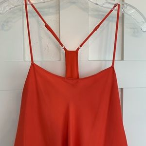 Haute Hippie Dresses - Haute Hippie Coral Pink Silk Sleeveless Mini Dress